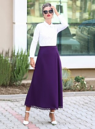 Purple - Unlined - Skirt