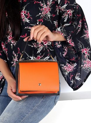 Orange - Fuchsia - Shoulder Bags