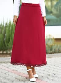 Maroon - Unlined - Skirt
