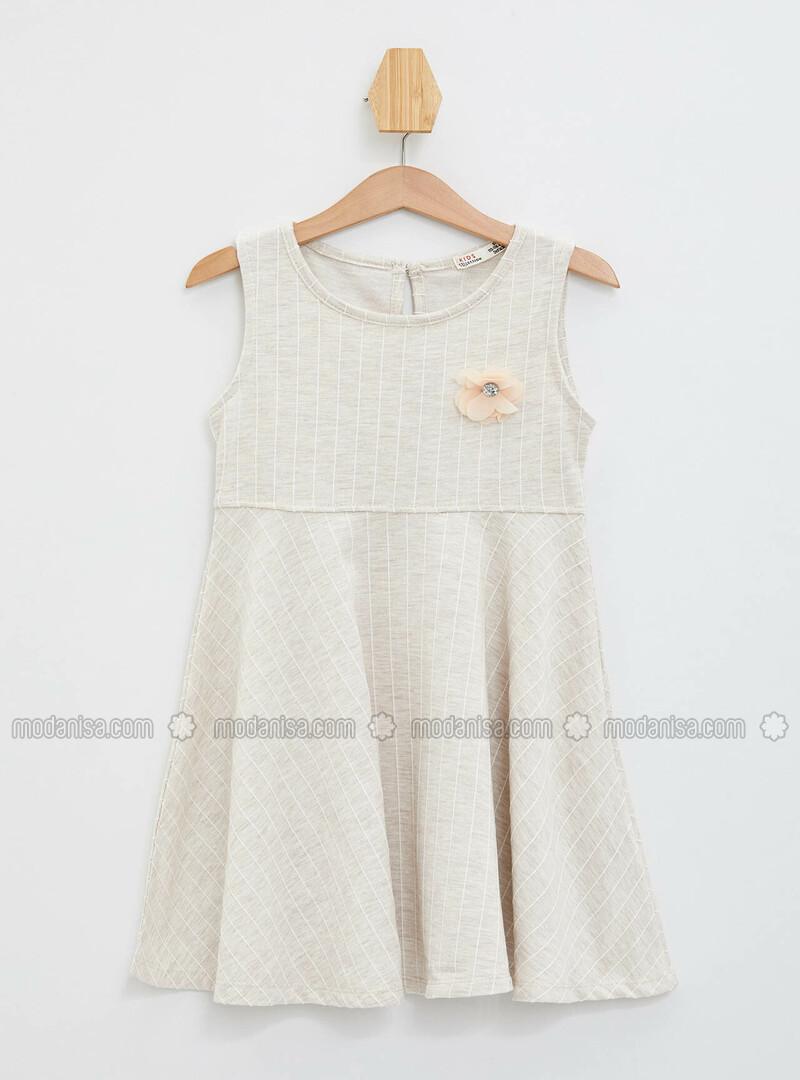 Ecru - Girls` Dress
