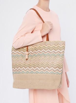 Beige - Green - Shoulder Bags