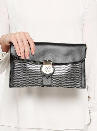 Black - Silver tone - Clutch Bags / Handbags