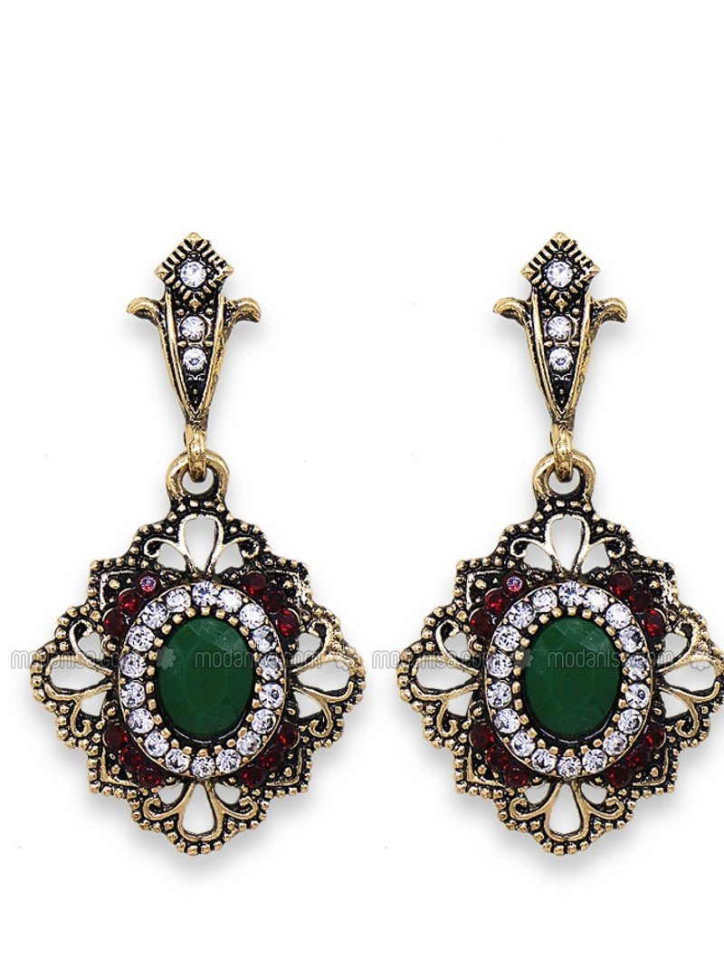 Green - Maroon - Earring