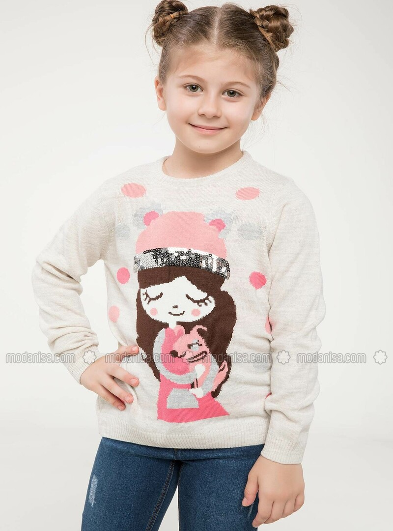 Ecru - Girls` Pullovers