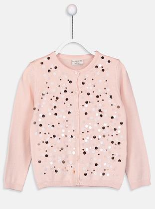 Crew neck - Pink - Girls` Pullovers - LC WAIKIKI