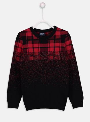 Crew neck - Red - Boys` Pullover - LC WAIKIKI