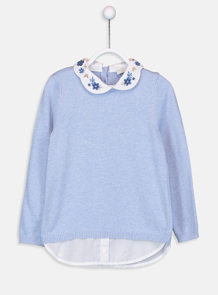 Blue - Girls` Pullovers - LC WAIKIKI