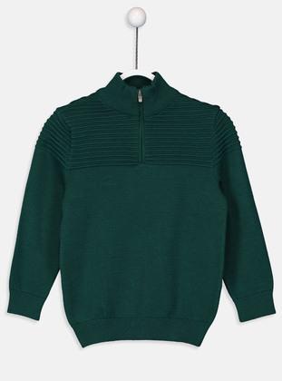 Green - Boys` Pullover