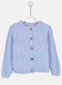 Crew neck - Printed - Blue - Girls` Pullovers