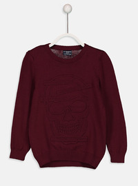Crew neck - Maroon - Jumper