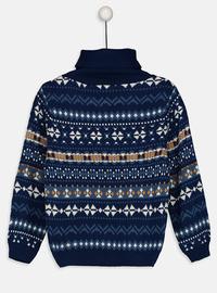 Printed - Navy Blue - Boys` Pullover