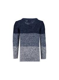 Printed - Crew neck - Navy Blue - Boys` Pullover
