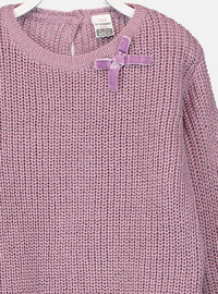 Crew neck - Lilac - Girls` Pullovers