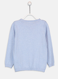 Crew neck - Blue - Girls` Pullovers