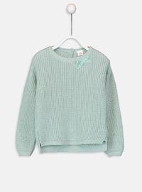 Crew neck - Green - Girls` Pullovers