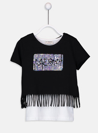 Black - Girls` T-Shirt