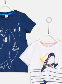 Crew neck - Navy Blue - baby t-shirts