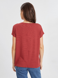 Crew neck - Maroon - T-Shirt