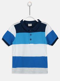 Stripe - Navy Blue - Boys` T-Shirt