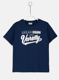 Crew neck - Navy Blue - Boys` T-Shirt