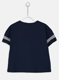 Navy Blue - Girls` T-Shirt
