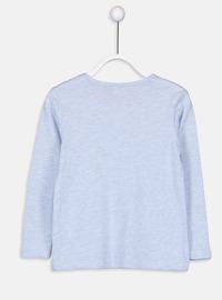 Crew neck - Blue - Girls` T-Shirt