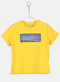 Crew neck - Yellow - Boys` T-Shirt