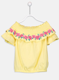 Yellow - Girls` T-Shirt