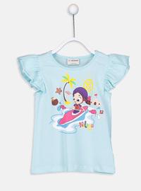 Turquoise - Girls` T-Shirt