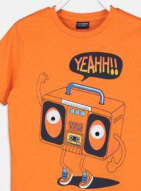 Crew neck - Orange - Boys` T-Shirt