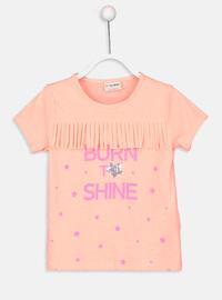 Crew neck - Orange - Girls` T-Shirt