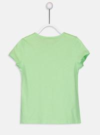 Crew neck - Green - Girls` T-Shirt