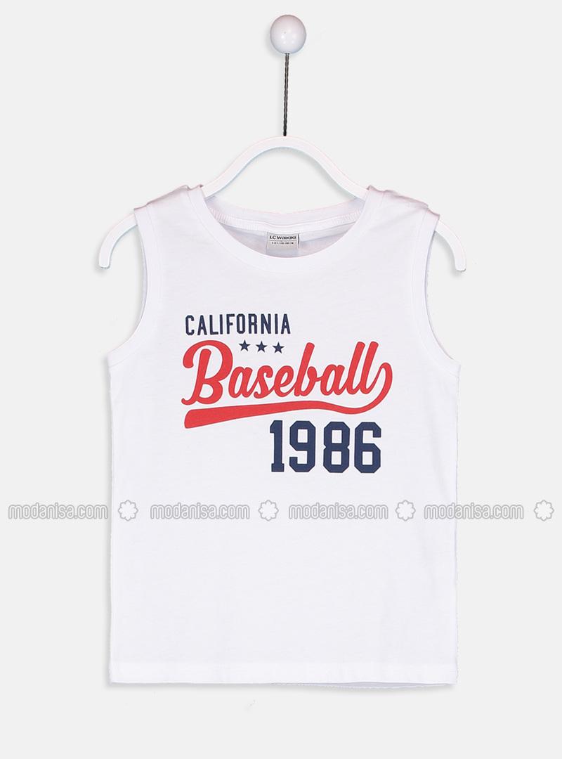 Crew neck - White - Boys` T-Shirt