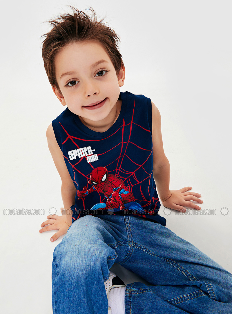 Navy Blue - Boys` T-Shirt