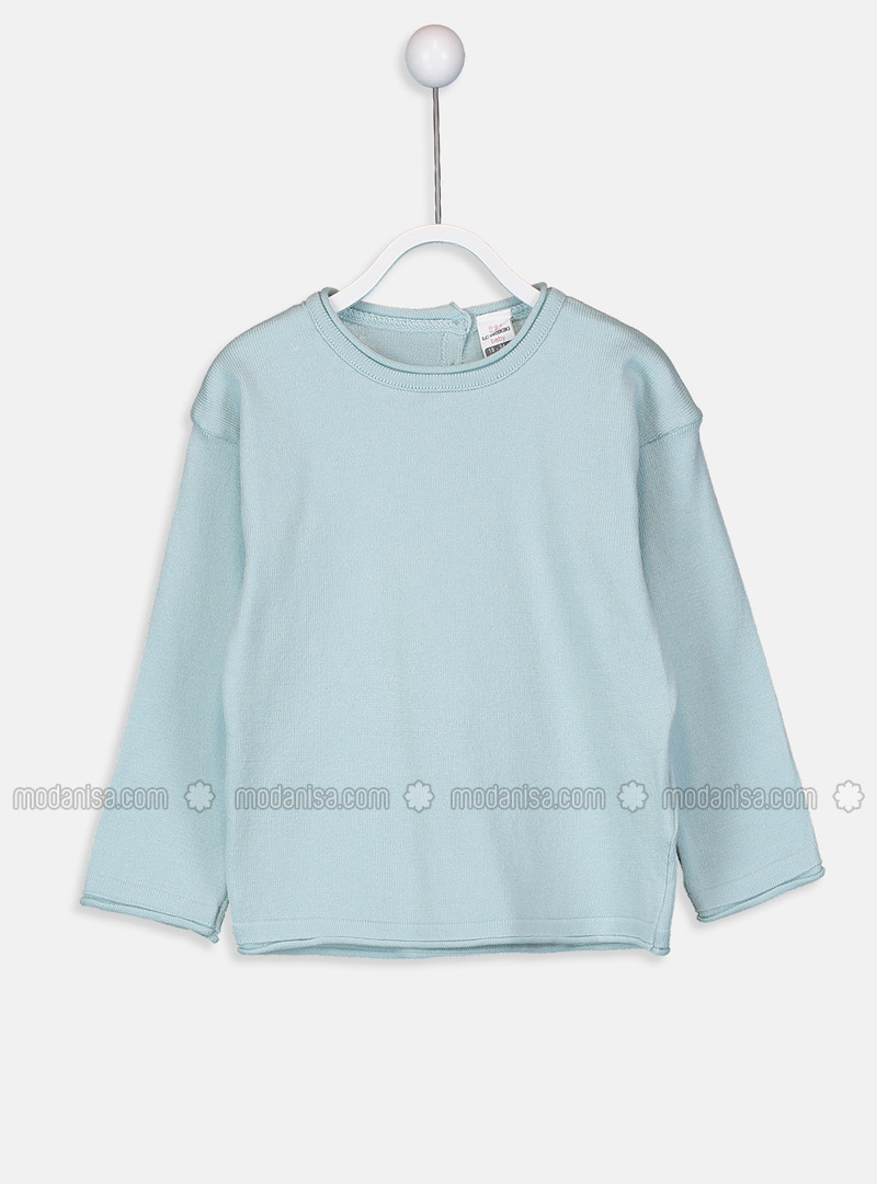 Crew neck - Green - Girls` Pullovers