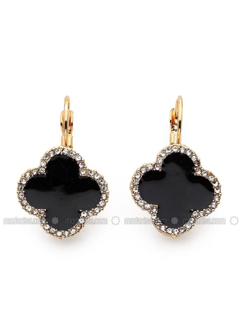Black - Black - Earring