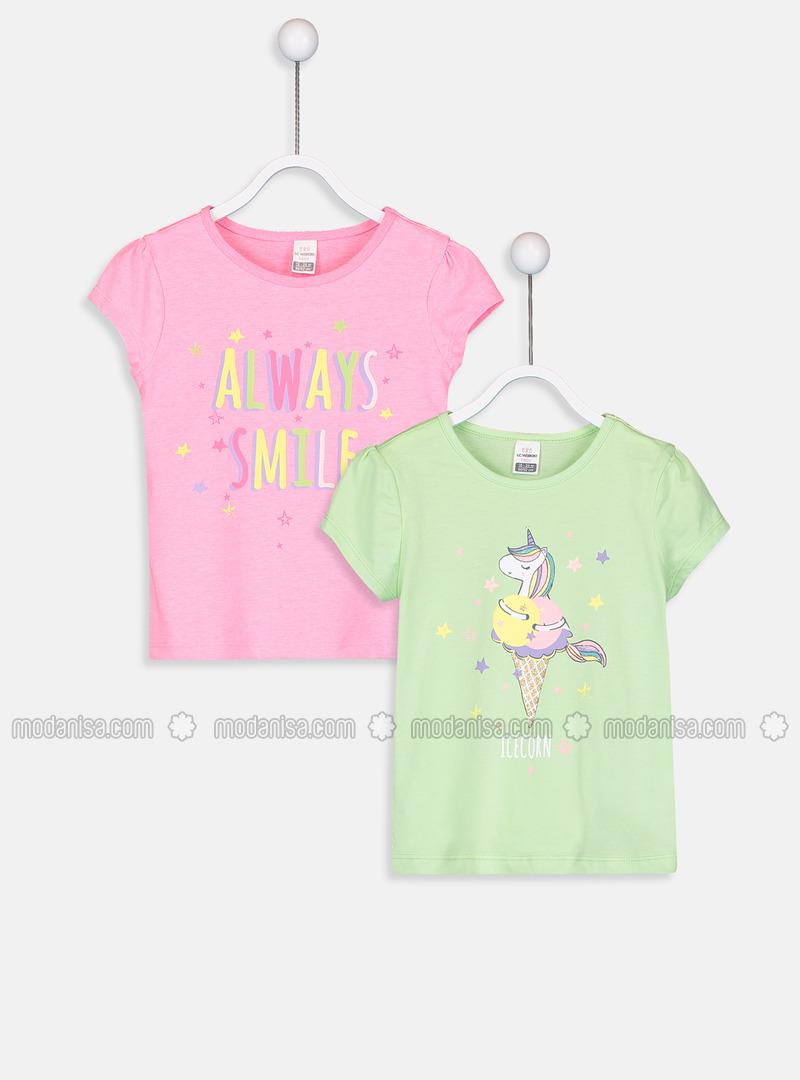 Crew neck - Pink - baby t-shirts