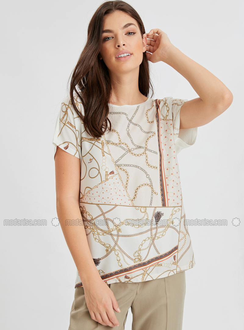 Crew neck - Beige - T-Shirt