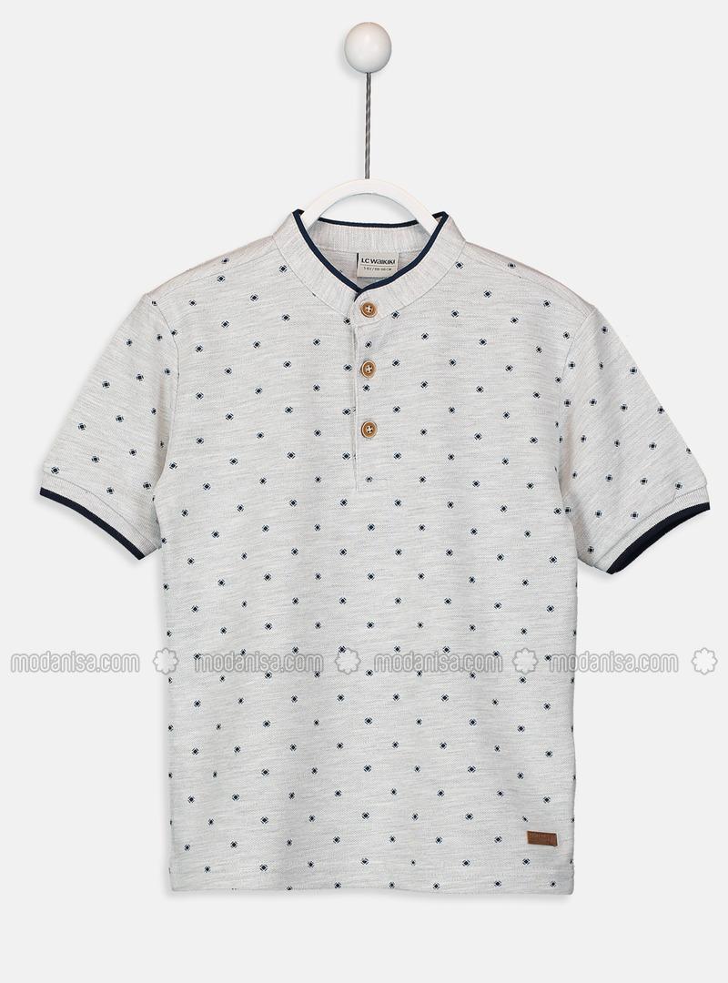 Gray - Boys` T-Shirt