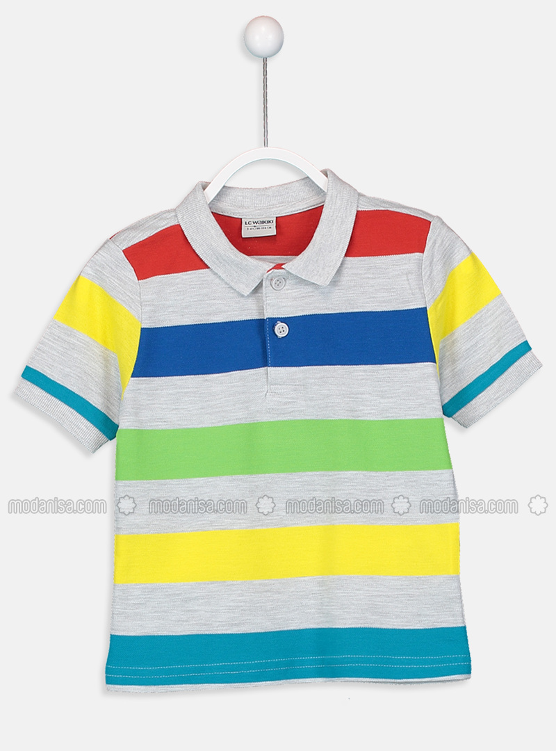 Stripe - Red - Boys` T-Shirt