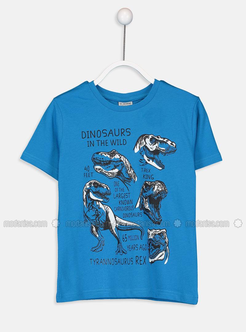 Crew neck - Blue - Boys` T-Shirt