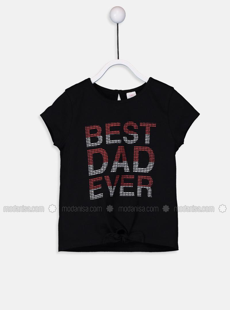 Crew neck - Black - baby t-shirts