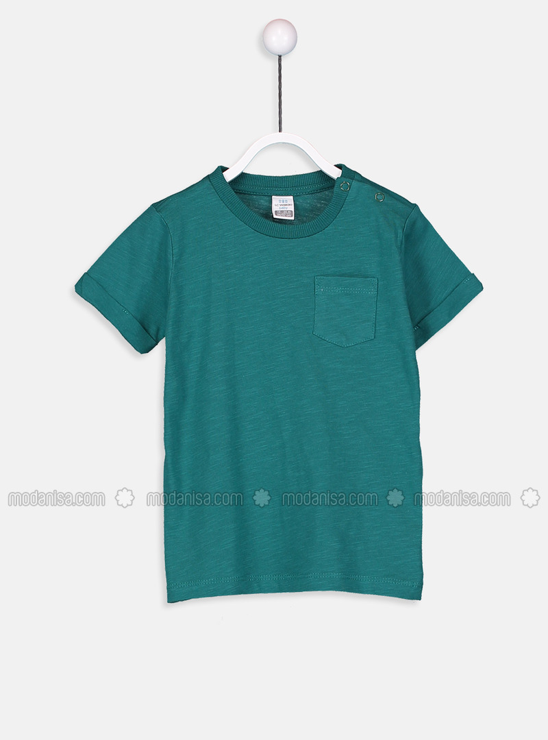 Crew neck - Green - baby t-shirts