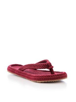 Maroon - Sandal - Slippers - Tonny Black