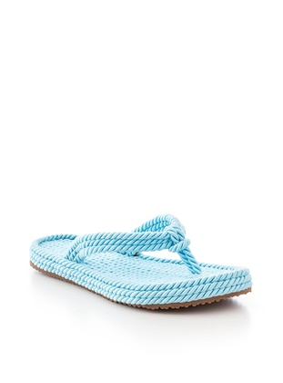 Turquoise - Sandal - Slippers - Tonny Black
