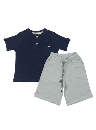Crew neck - Navy Blue - Baby Suit