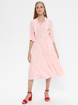 Powder - V neck Collar - Half Lined - Dress