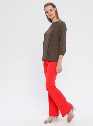 Coral - Viscose - Pants