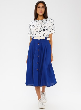Saxe - Half Lined - Cotton - Rayon - Skirt