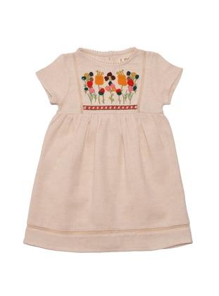 Crew neck - Beige - Baby Dress